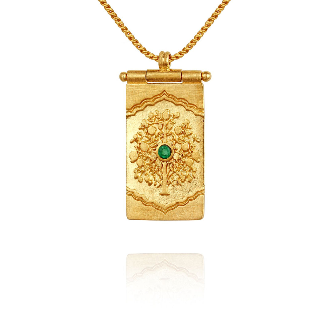 Temple of the Sun Tree of Life necklace gold