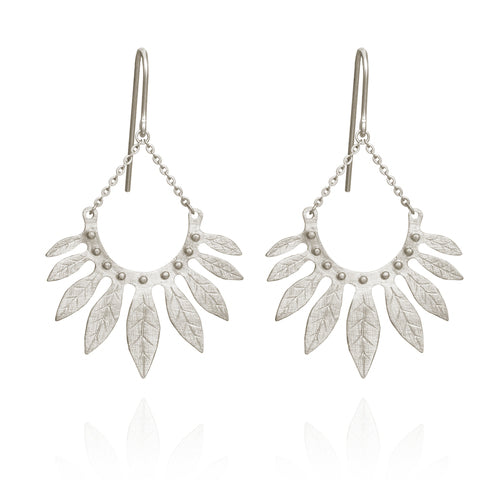 Temple of the Sun Carissa Earrings Silver