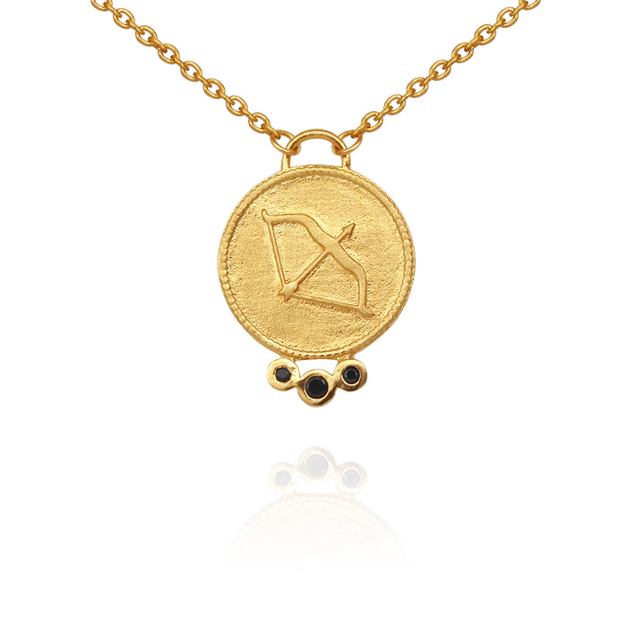 Temple Of The Sun Atlanta Necklace Gold