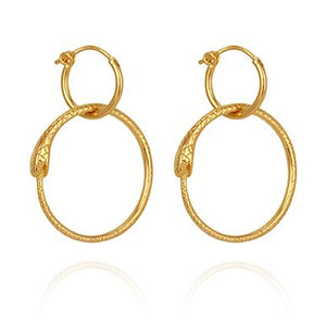 Temple of the sun Serpent earrings gold
