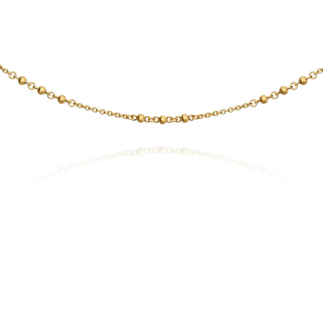 Temple Of The Sun Choker Chain Gold