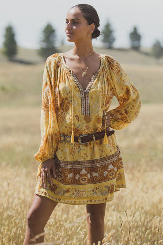 Spell Mystic tunic dress - Sunflower