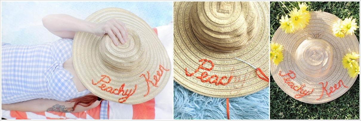 an embroidered summer hat