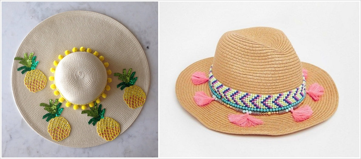 bead embroidery sun hats