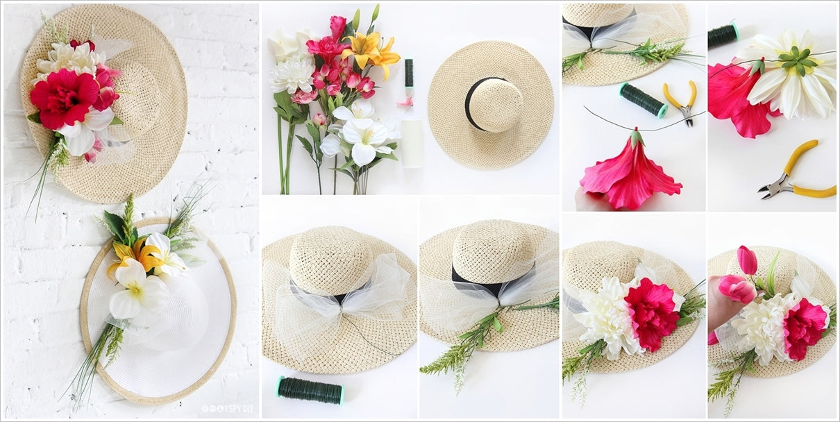 diy flower derby hats