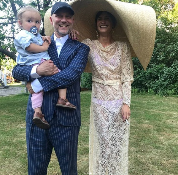 Emma Leth wedding straw hat