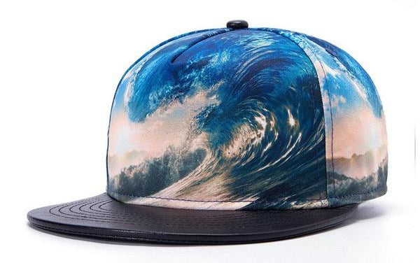 graphic wave snapback
