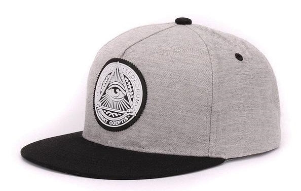 two toned illuminati snapback hat