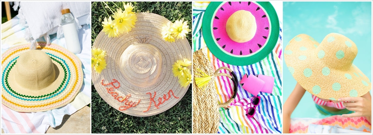 ideas to refashion floppy summer hats