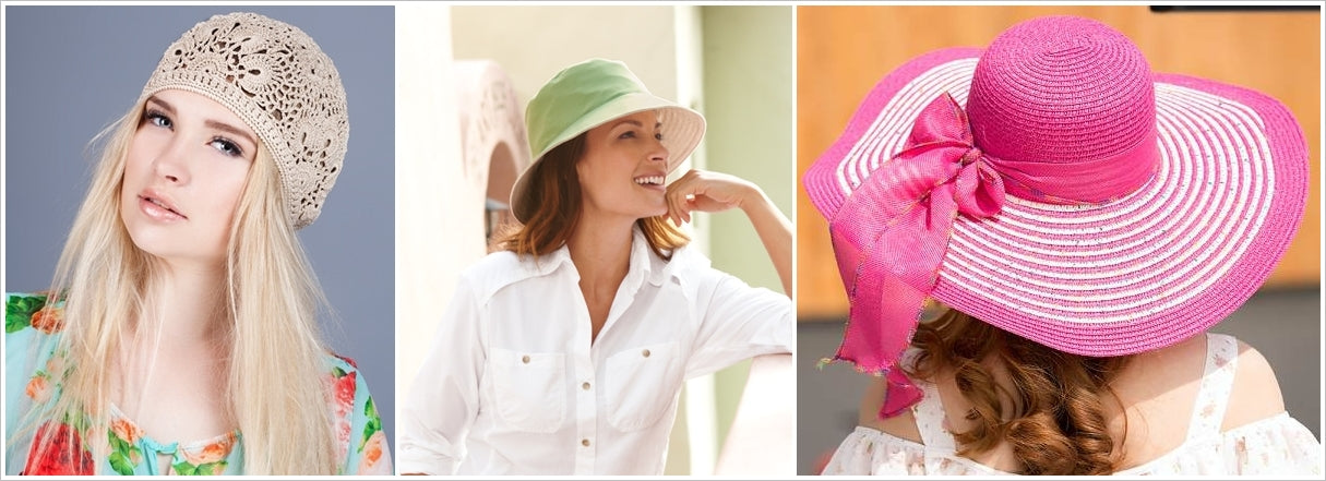 Summer hats in different styles