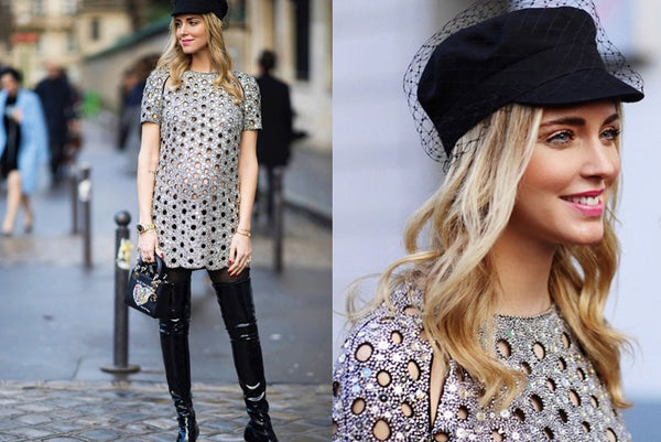 chiara ferragni wearing pageboy hat