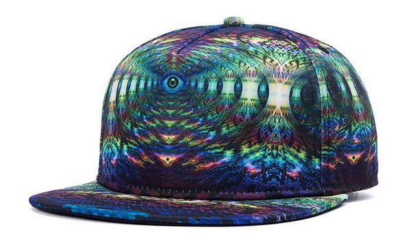 psychedellic graphic printed snapback