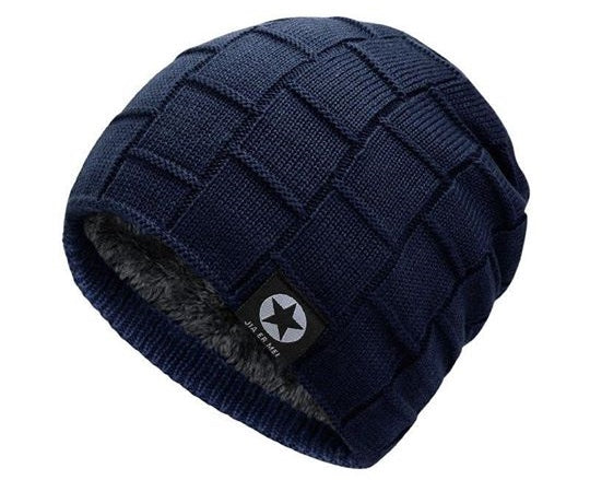 fur-lined outdoor beanie