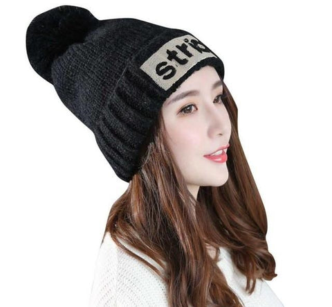 strict letters beanie