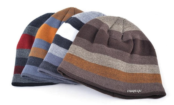 striped outdoor beanies