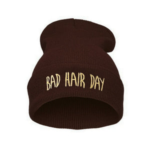 Bad Hair Day Embroidered Beanie - Fashion Hat By Kiwi Hats