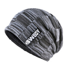 Plaid Pattern Thick Knitted Beanie - Fashion Hat By Kiwi Hats