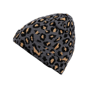 Multicolor Leopard Print Beanie - Fashion Hat By Kiwi Hats