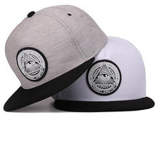 Two-Tone Front Illuminati Graphic Snapback - Fashion Hat By Kiwi Hats