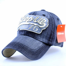 Light Color Distressed Front Embroidered Text Snapback - Fashion Hat By Kiwi Hats