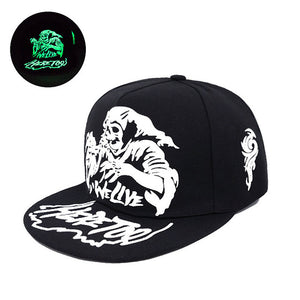 Spooky Graphic Printed Fluorescent Snapback - Fashion Hat By Kiwi Hats