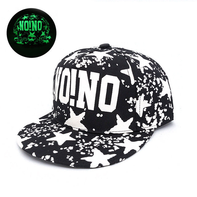 No!No! Graphic Printed Fluorescent Snapback - Fashion Hat By Kiwi Hats