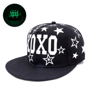 XOXO Star Accented Fluorescent Snapback - Fashion Hat By Kiwi Hats