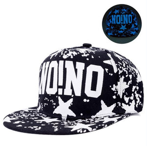 Slogan Splatter Star Detailed Fluorescent Snapback - Fashion Hat By Kiwi Hats
