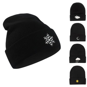 Weather Graphic Embroidered Beanie - Fashion Hat By Kiwi Hats