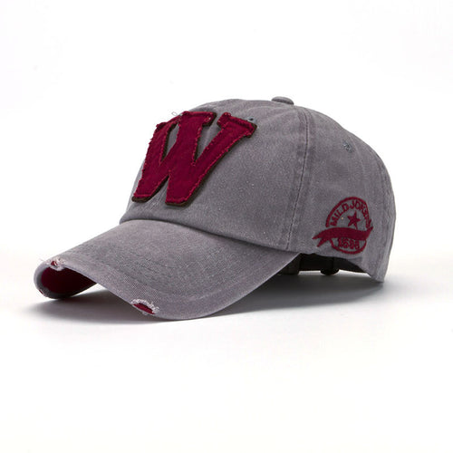 W Hockey Distressed Snapback - Fashion Hat By Kiwi Hats