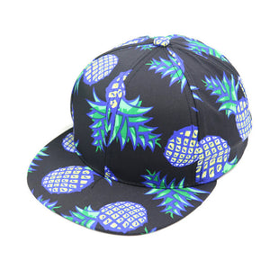Pineapple Printed Snapback - Fashion Hat By Kiwi Hats