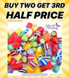 Buy two get the 3rd item half price.