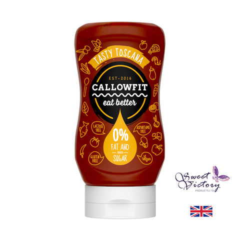 Callowfit Tasty Toscana Sugar Free Vegan Sauce 300ml - Sweet Victory Products