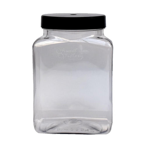 Empty Sweet Shop Confectionery Display Jar With Lid 2.5L - Sweet Victory Products Ltd