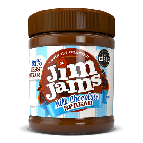 JimJams No Added Sugar Milk Chocolate Spread 350g - Sweet Victory Products Ltd