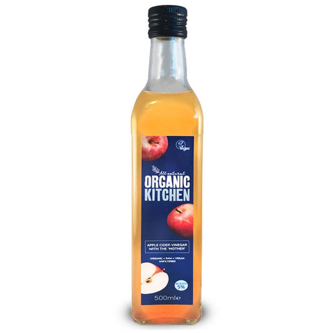 Organic Kitchen Apple Cider Vinegar with Mother 500ml - Sweet Victory Products Ltd