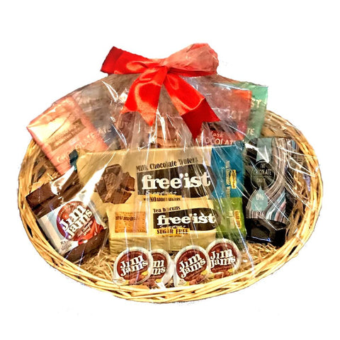 Luxury No Added Sugar Chocolate Gift Basket Hamper - Sweet Victory Products Ltd