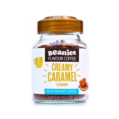 Beanies Flavored Coffee Decaffeinated Creamy Caramel 50g - Sweet Victory Products Ltd