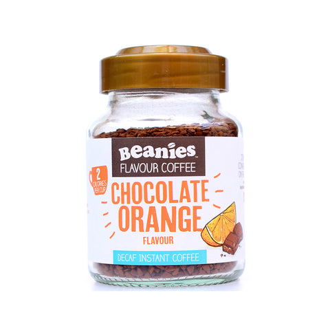 Beanies Flavoured Coffee Decaffeinated Chocolate Orange 50g - Sweet Victory Products Ltd