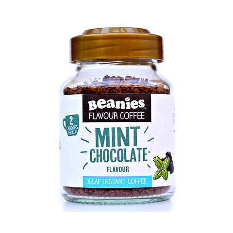 Beanies Flavoured Coffee Decaffeinated Mint Chocolate 50g - Sweet Victory Products Ltd