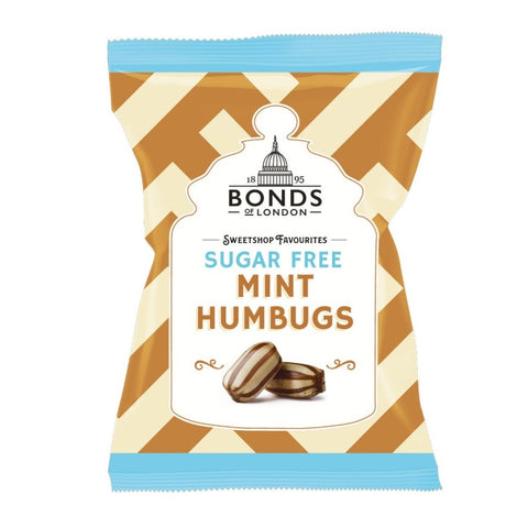 Bonds Of London Sugar Free Mint Humbugs Pre-Packed 100g - Sweet Victory Products