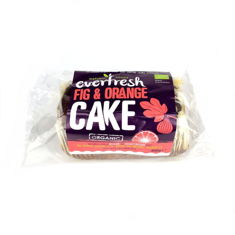 Everfresh No Added Sugar Vegan Organic Fig & Orange Cake 400g - Sweet Victory Products Ltd
