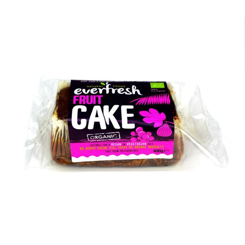Everfresh No Added Sugar Vegan Organic Fruit Cake 400G - Sweet Victory Products Ltd