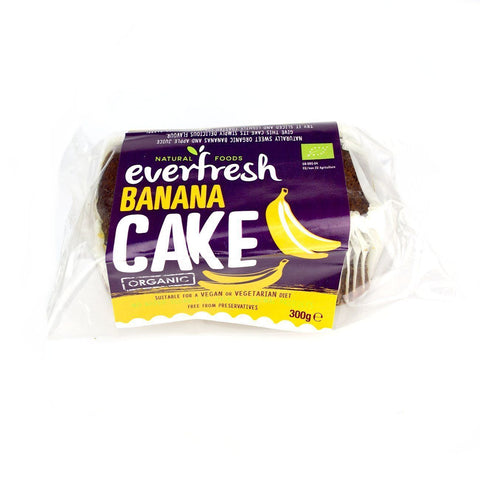 Everfresh Organic No Added Sugar, Egg & Dairy Free, Vegan Banana Cake 350g - Sweet Victory Products Ltd