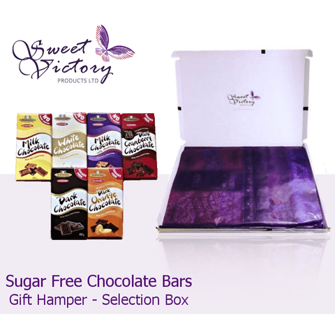 Simpkins No Added Sugar 6 Chocolate Bar Gift Mail Box - Sweet Victory Products