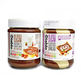 Diablo No Added Sugar Duo Hazelnut & White Chocolate Spread 350g - Sweet Victory Products Ltd