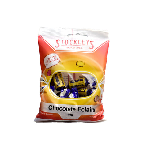 Stockley's Sugar Free Chocolate Eclairs Pre-Packed 70g - Sweet Victory Products Ltd