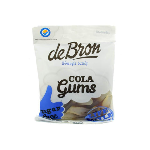 de Bron - Sugar Free Cola Gums Sweets 100g - Sweet Victory Products Ltd