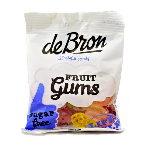 de Bron - Sugar Free Fruit Gums Sweets 100g - Sweet Victory Products Ltd