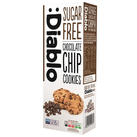Diablo No Added Sugar Chocolate Chip Cookies 150g - Sweet Victory Products Ltd